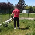 Jardin : le débroussaillage au rotofil ….