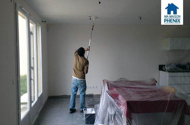 fuite d eau la peinture du plafond pisode 3 ma maison phenix. Black Bedroom Furniture Sets. Home Design Ideas