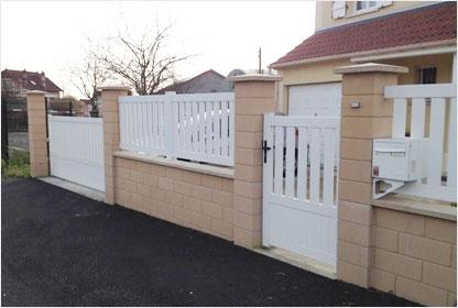 Maison Phénix : portail, clôture