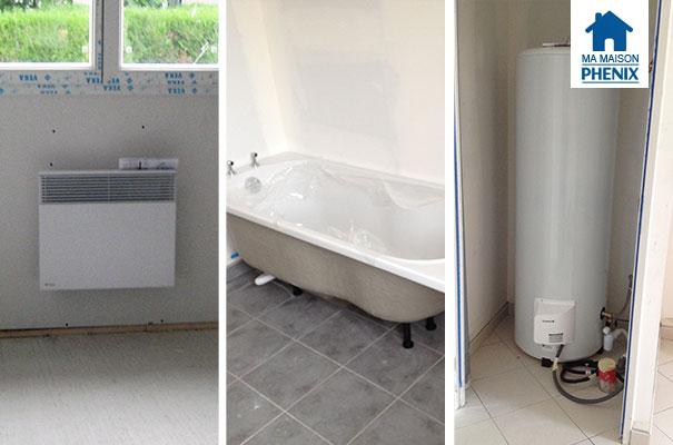 photos les radiateurs le ballon d 39 eau chaude la baignoire et la douche ma maison phenix. Black Bedroom Furniture Sets. Home Design Ideas